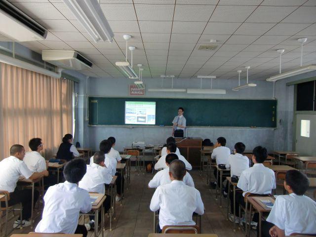 松山北高等学校出張講義   NBU日本文理大学 航空宇宙工学科